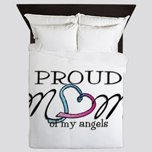 Proud mom of angels Queen Duvet