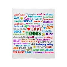 Tennis Terms Throw Blanket