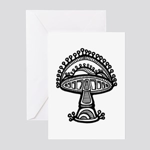 Abstract Mushroom Greeting Cards (Pk of 10)