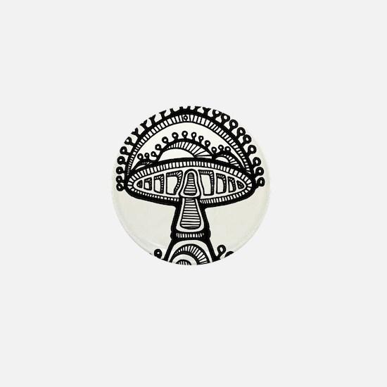 Abstract Mushroom Mini Button