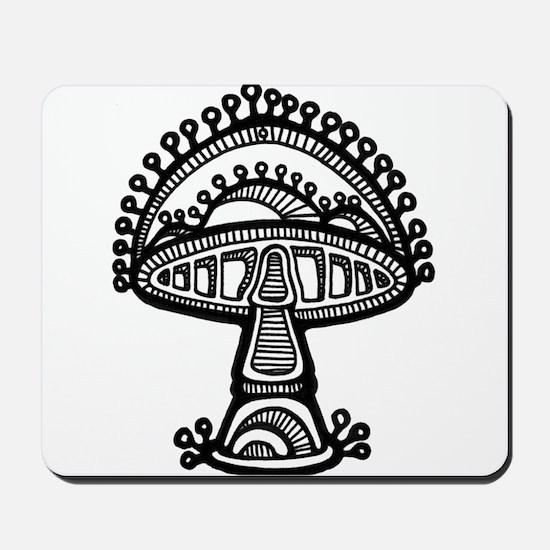 Abstract Mushroom Mousepad