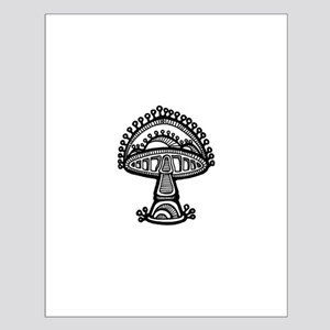 Abstract Mushroom Small Poster