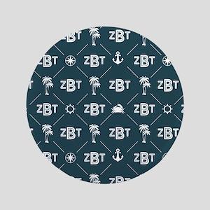 Zeta Beta Tau Pattern Blue Button