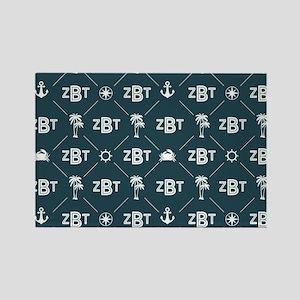 Zeta Beta Tau Pattern Blue Magnets