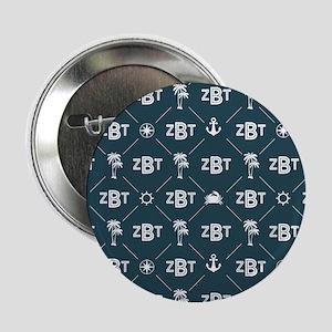 "Zeta Beta Tau Pattern Blue 2.25"" Button (10 pack)"