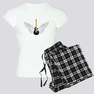 e-guitar player wings Women's Light Pajamas