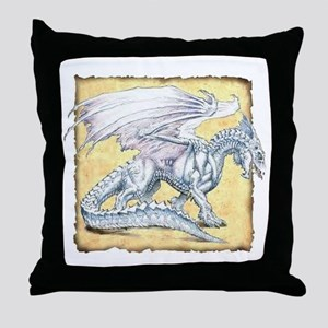 White Dragon Throw Pillow