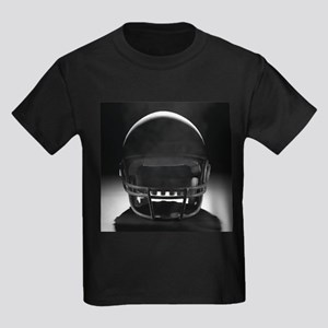 Football Helmet Kids Dark T-Shirt