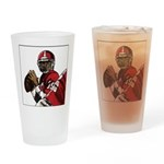 Football Players Drinking Glass