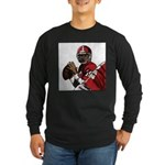Football Players Long Sleeve Dark T-Shirt
