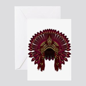 Native War Bonnet 09 Greeting Card