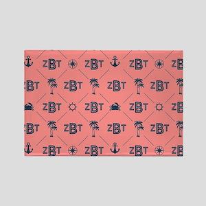 Zeta Beta Tau Pattern Coral Magnets