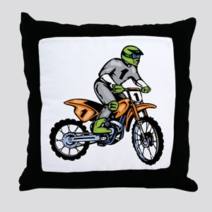 Motorcross Throw Pillow