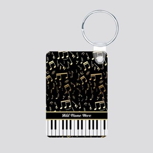 Personalized Piano keys and gold musical notes Alu