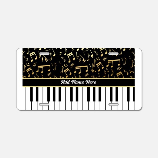 Personalized Piano musical notes designer Aluminum