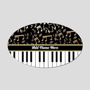 Personalized Piano musical notes designer 20x12 Ov