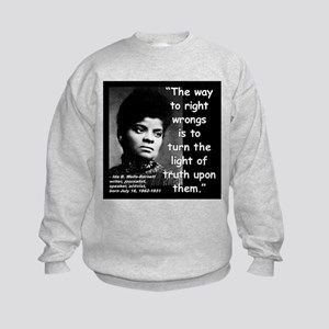 Wells Truth Quote 2 Kids Sweatshirt