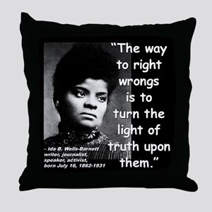 Wells Truth Quote 2 Throw Pillow