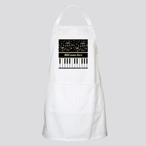 Personalized Piano and musical notes Apron