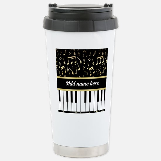 Personalized Piano and musical notes Stainless Ste