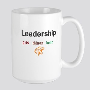 Leadership gets things done Large Mug