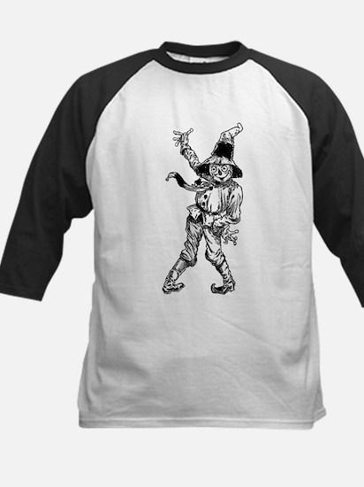 Scarecrow Waving Kids Baseball Jersey