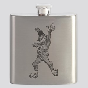 Scarecrow Dancing Disco Style Flask