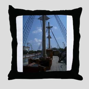 Sailboat at Mystic Throw Pillow