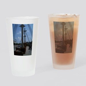 Sailboat at Mystic Drinking Glass