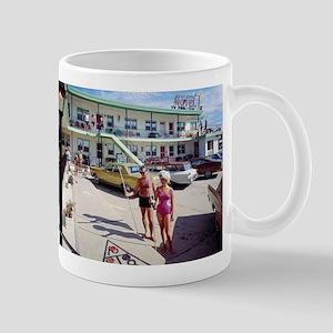 Rest Cove Motel Wildwood, NJ 1960s Shuffleboa Mugs