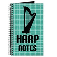 Harp Music Notes Journal