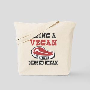 Vegetarian or Vegan Huge Missed Steak Tote Bag