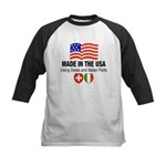 Swiss Italian Parts Kids Baseball Jersey