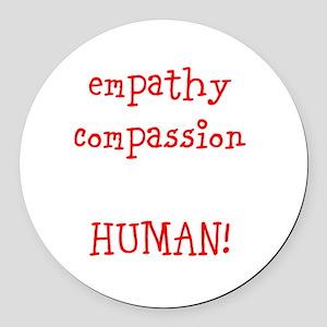 Human Empathy Round Car Magnet