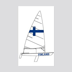 Finland Dinghy Sailing Sticker (Rectangle)