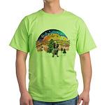 Xmusic2-Spinone (c) Green T-Shirt