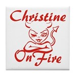 Christine On Fire Tile Coaster
