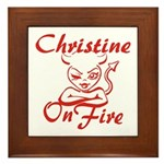 Christine On Fire Framed Tile