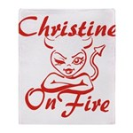 Christine On Fire Throw Blanket