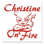 Christine On Fire Square Car Magnet 3