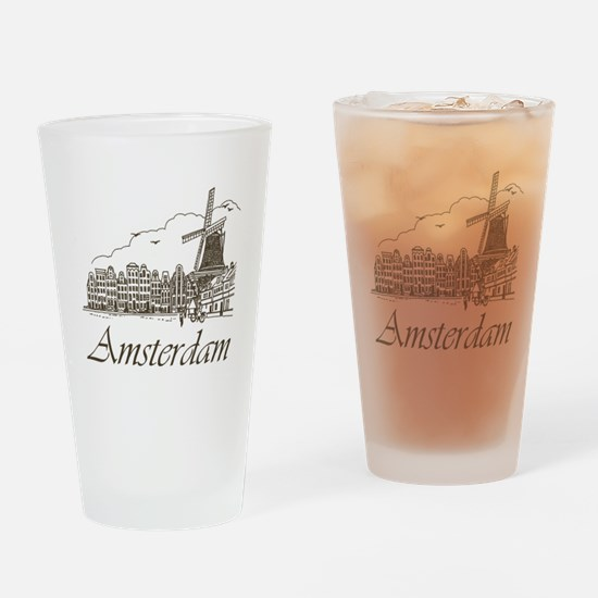 Vintage Amsterdam Drinking Glass