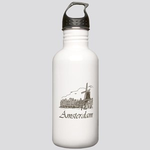 Vintage Amsterdam Stainless Water Bottle 1.0L
