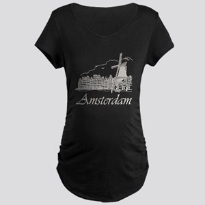 Vintage Amsterdam Maternity Dark T-Shirt
