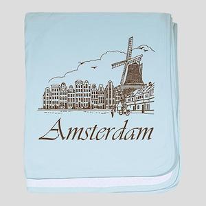 Vintage Amsterdam baby blanket