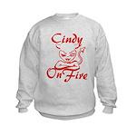 Cindy On Fire Kids Sweatshirt