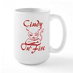 Cindy On Fire Large Mug
