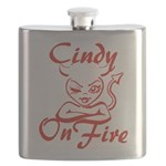 Cindy On Fire Flask