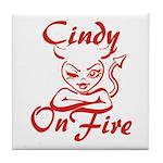 Cindy On Fire Tile Coaster