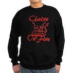 Claire On Fire Sweatshirt (dark)