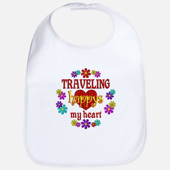 Traveling Happy Bib